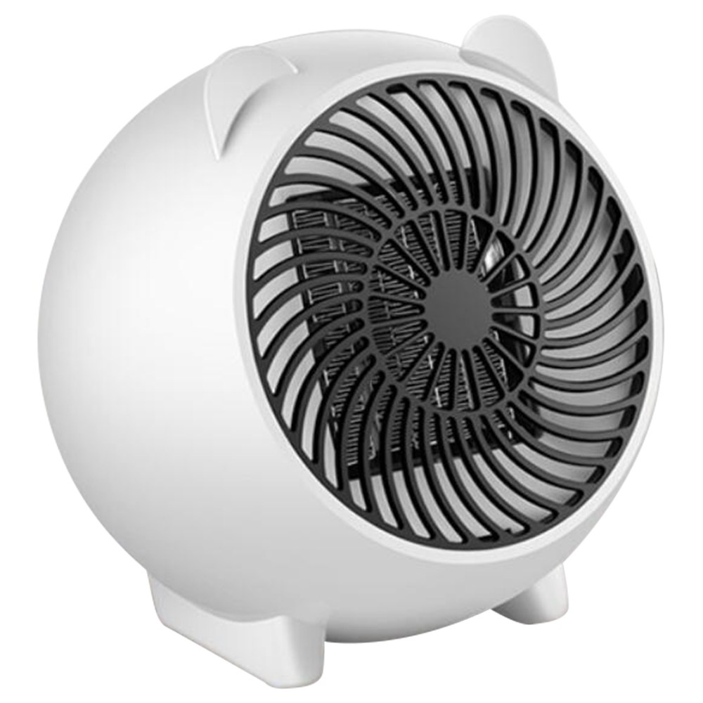 500W Mini PTC Electric Fan Heater Winter Indoor Air Warmer - White