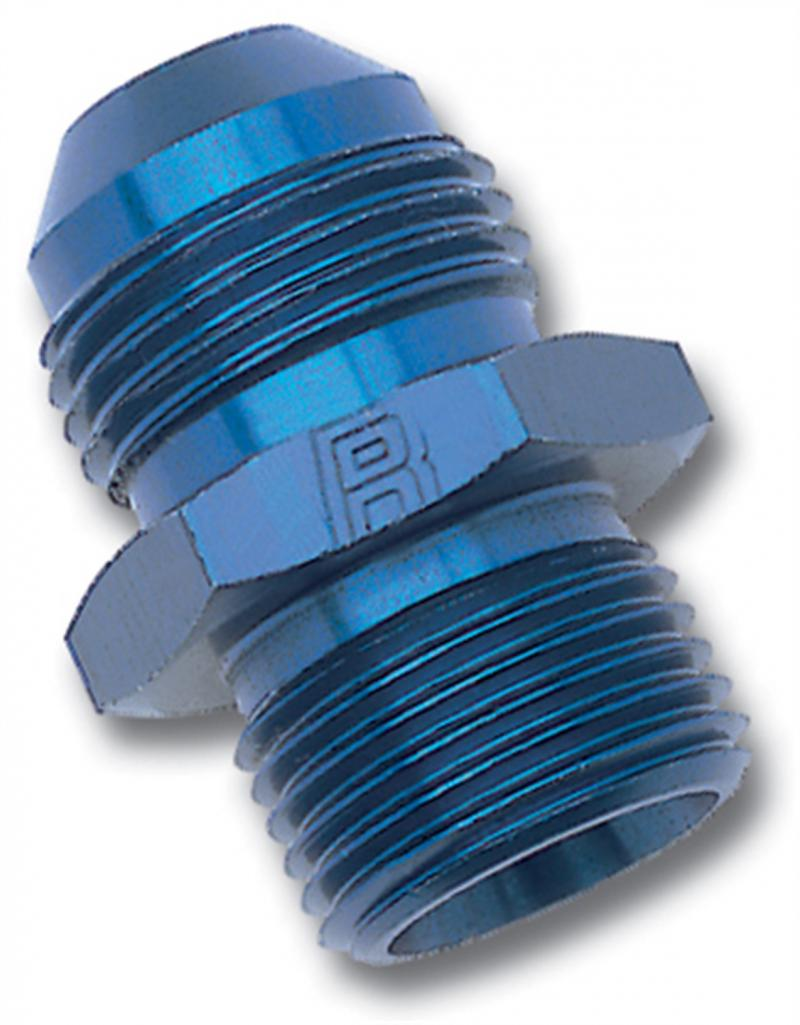 Russell ADAPTER FITTING #4 AN MALE FLARE TO 10mm X 1.5 MALE BLUE ANODIZED