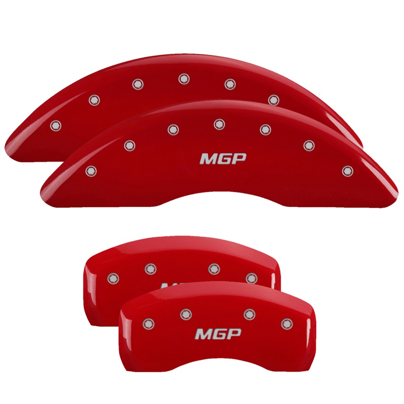 MGP Caliper Covers 41114SMGPRD Set of 4: Red finish, Silver MGP / MGP Jaguar XE 2017-2019