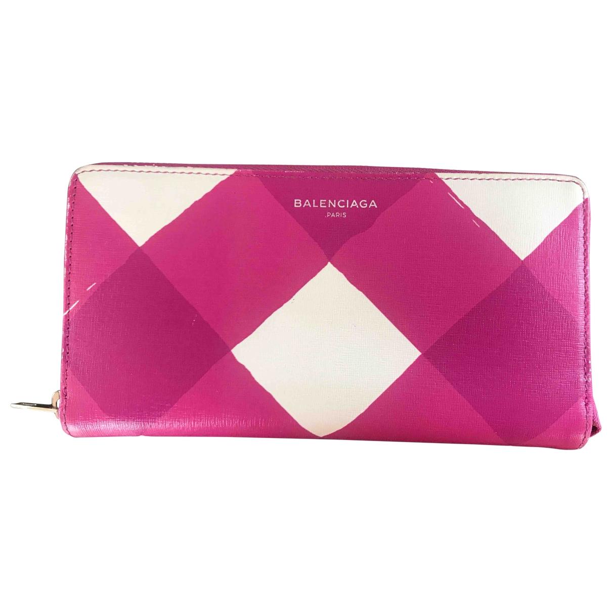 Balenciaga \N Pink Leather wallet for Women \N