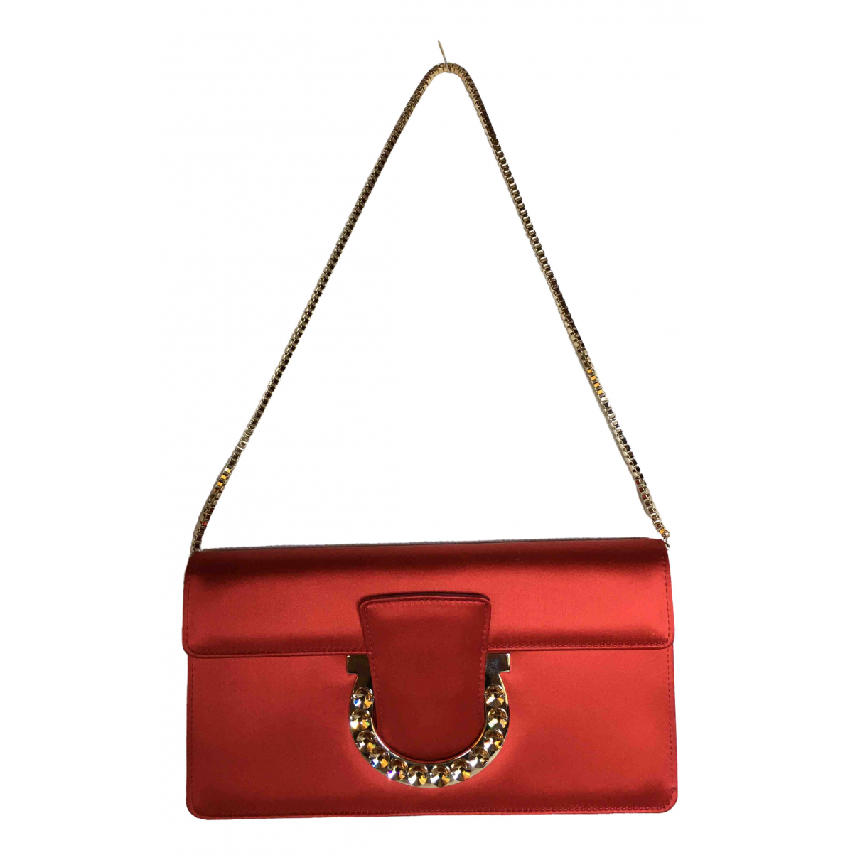 Salvatore Ferragamo \N Red Silk handbag for Women \N