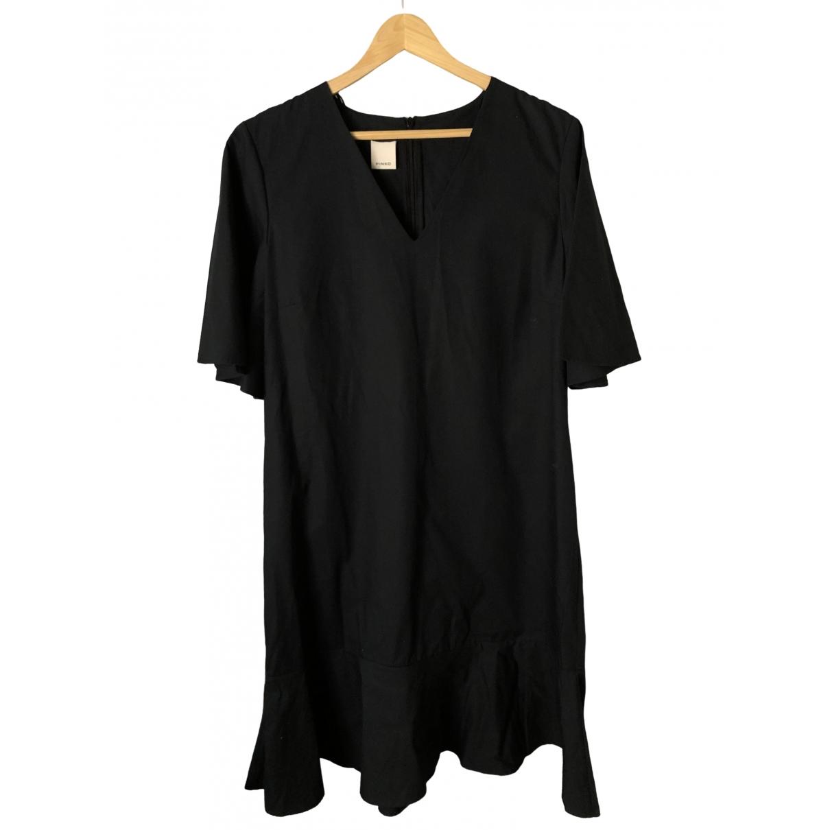 Pinko \N Black Cotton dress for Women 44 IT