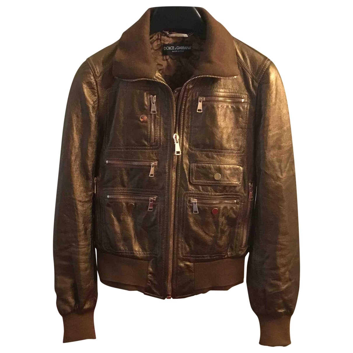 Dolce & Gabbana \N Brown Leather jacket for Women 38 IT