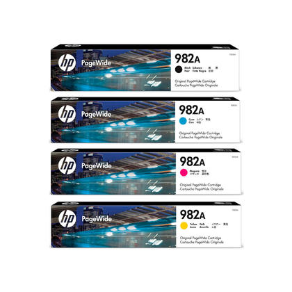 HP 982A T0B23A T0B24A T0B25A T0B26A Original Ink Cartridge Combo BK/C/M/Y