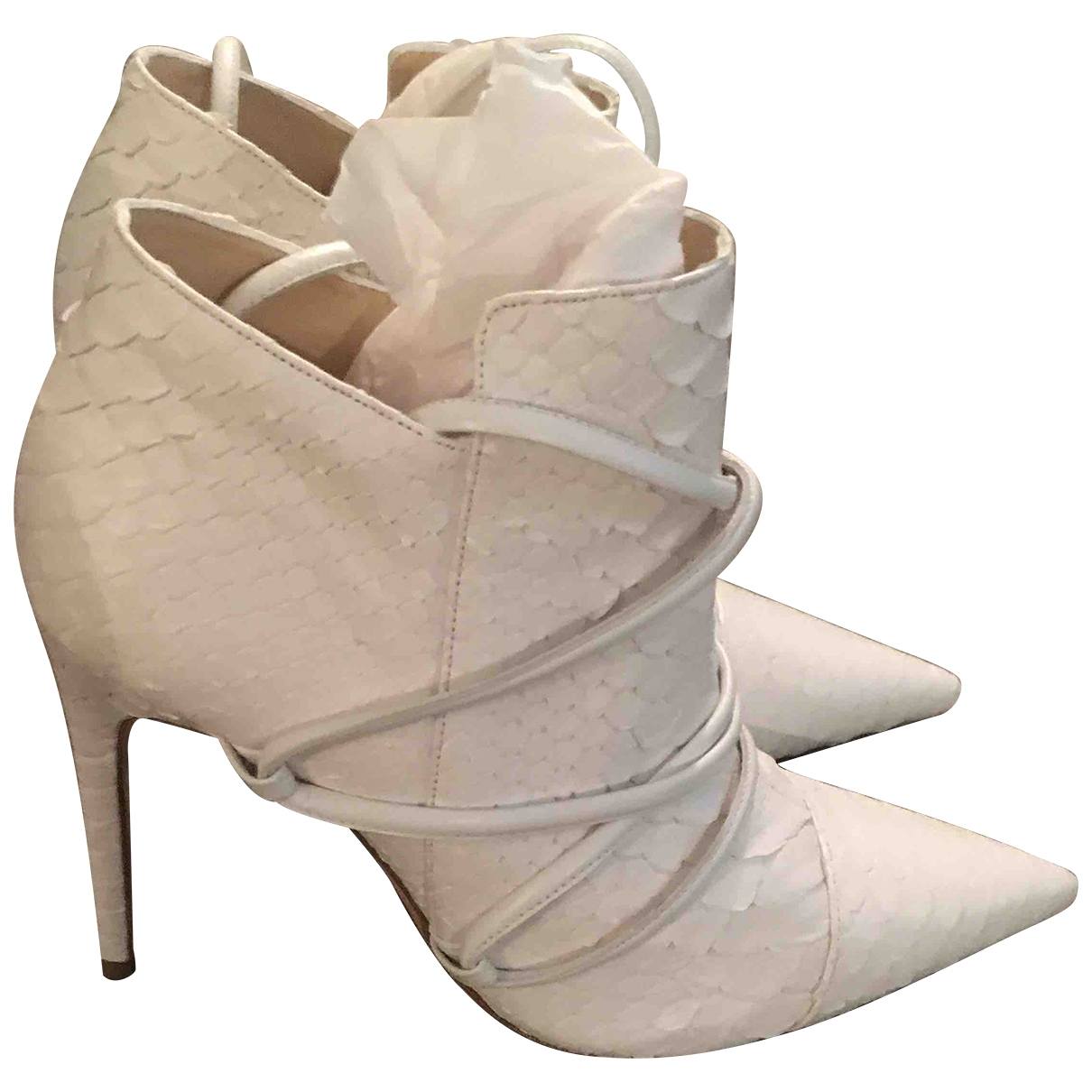 Alexandre Birman \N White Leather Ankle boots for Women 40 EU