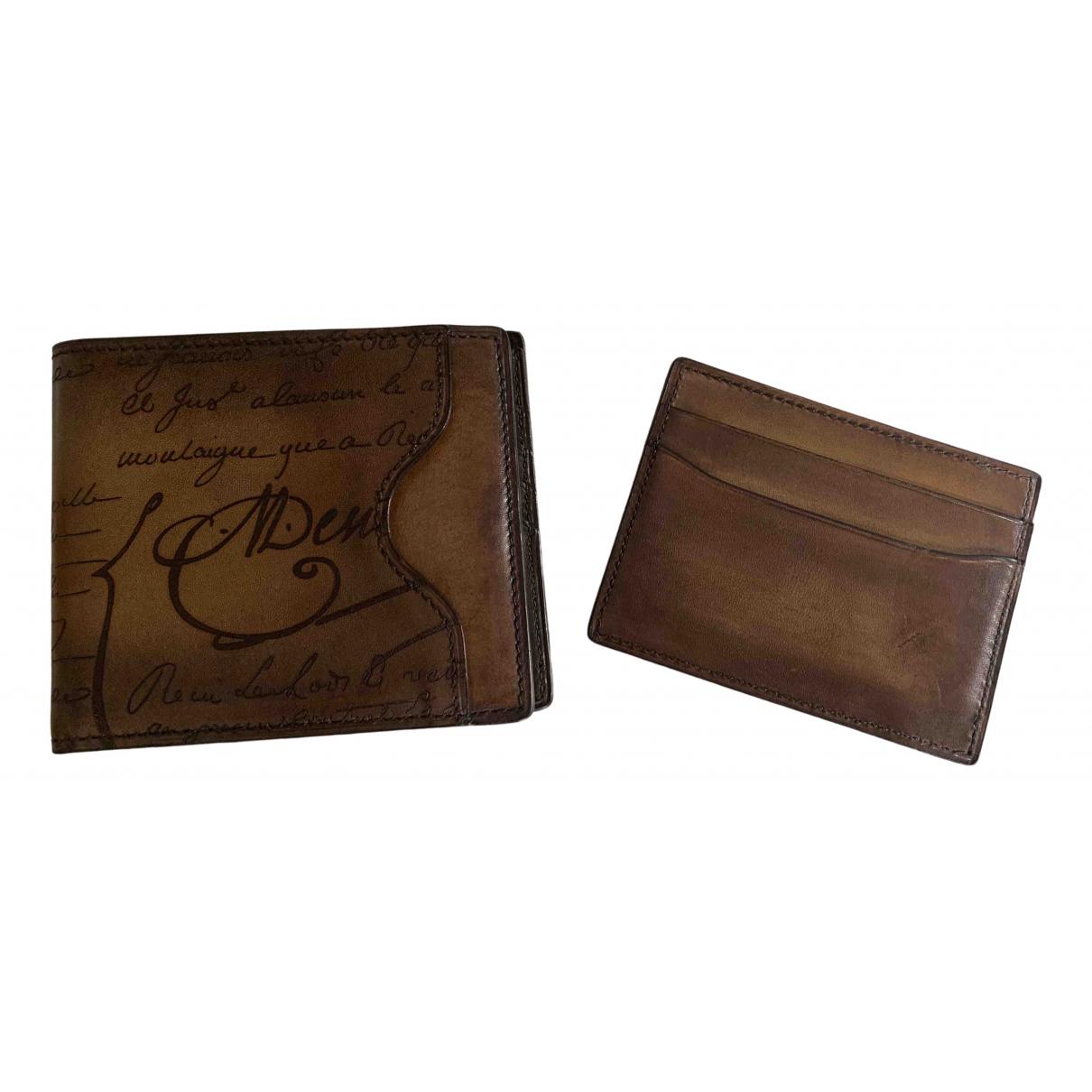 Berluti \N Brown Leather Small bag, wallet & cases for Men \N