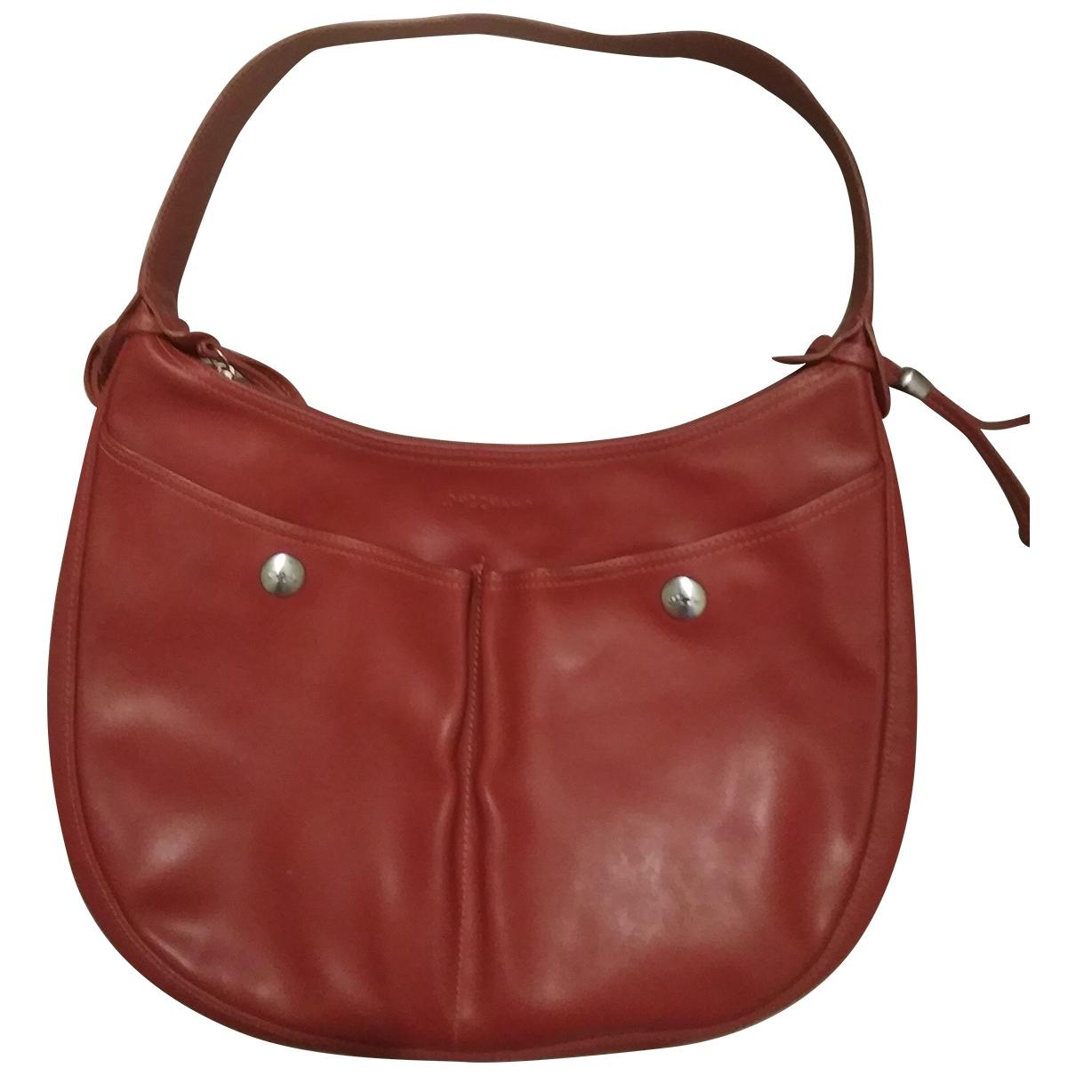 Longchamp \N Orange Leather handbag for Women \N