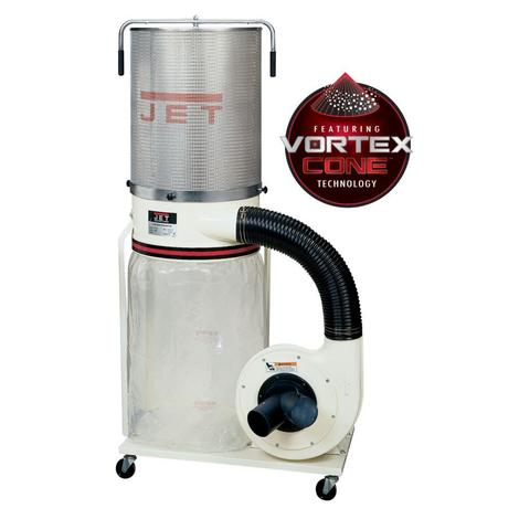 Jet Dust Collector, 2 HP 3PH 230/460 V, 2-Micron Canister Kit
