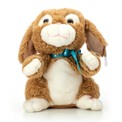 Easter Animated Musical Bunny with Clapping Hands and Flipping Ears, 11''