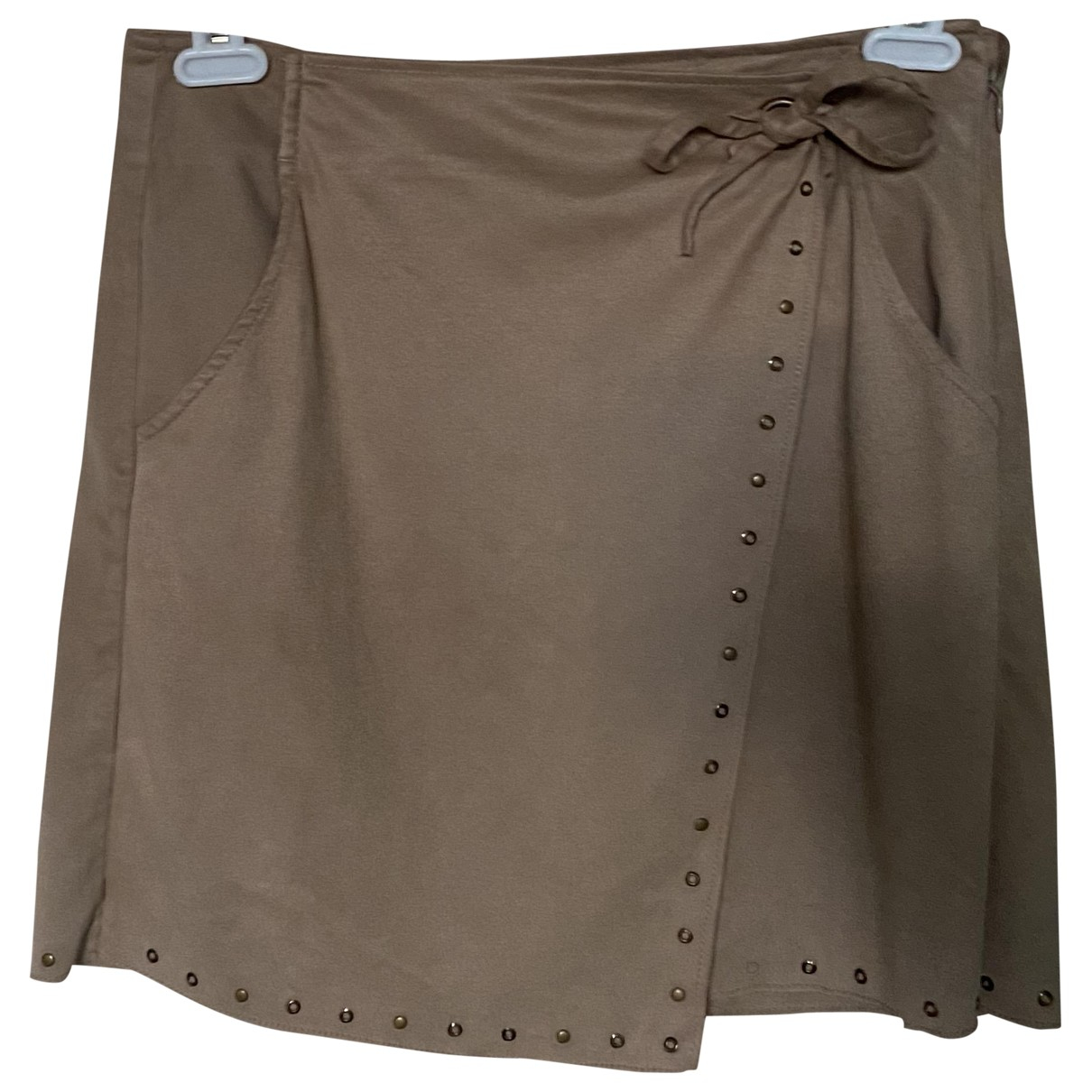 Non Signé / Unsigned \N Brown Cotton skirt for Women 36 FR