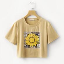 Sunflower Boxy Tee