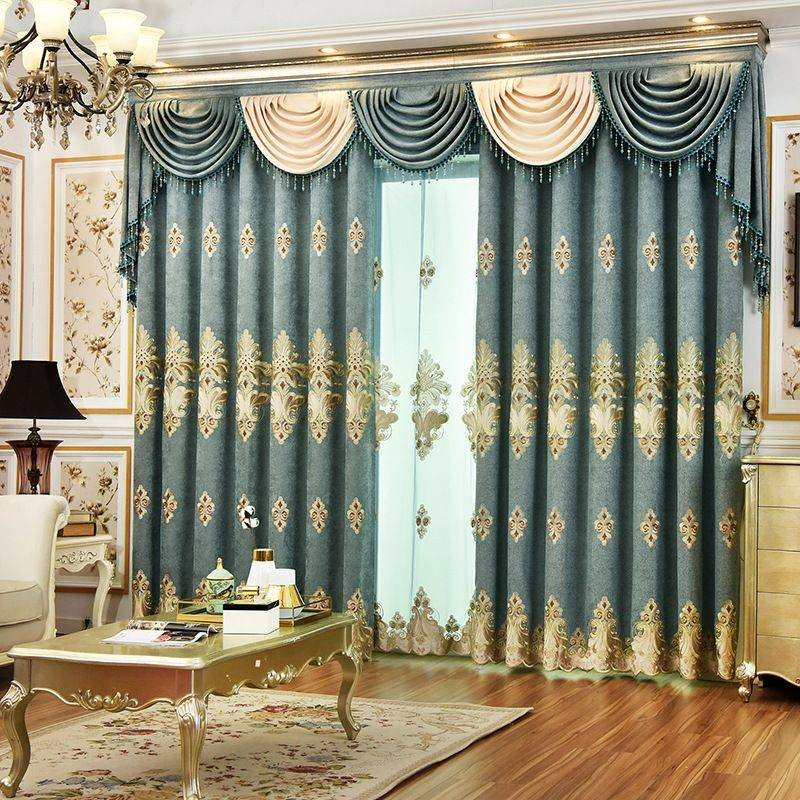 Elegant Decorative Blackout Curtains Drapes Thick Heat-proof Custom Grommet Curtains for Living Room Bedroom No Pilling No Fading No off-lining