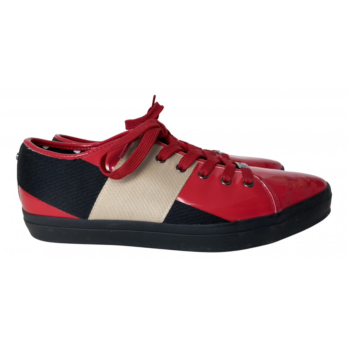 Armani Jeans \N Red Cloth Trainers for Women 41 EU