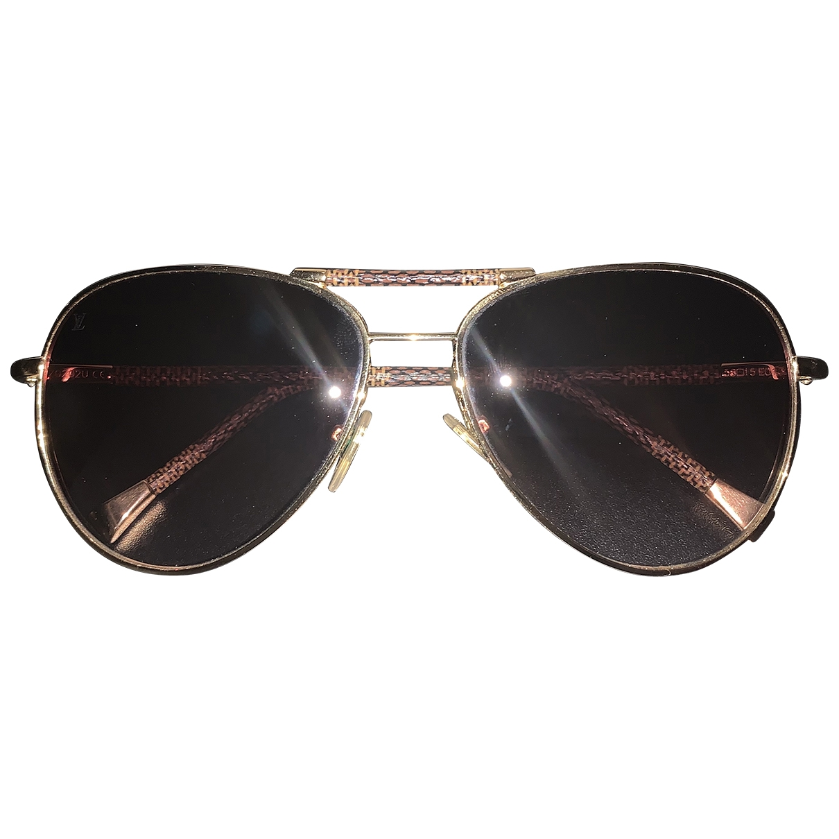Louis Vuitton \N Brown Metal Sunglasses for Women \N
