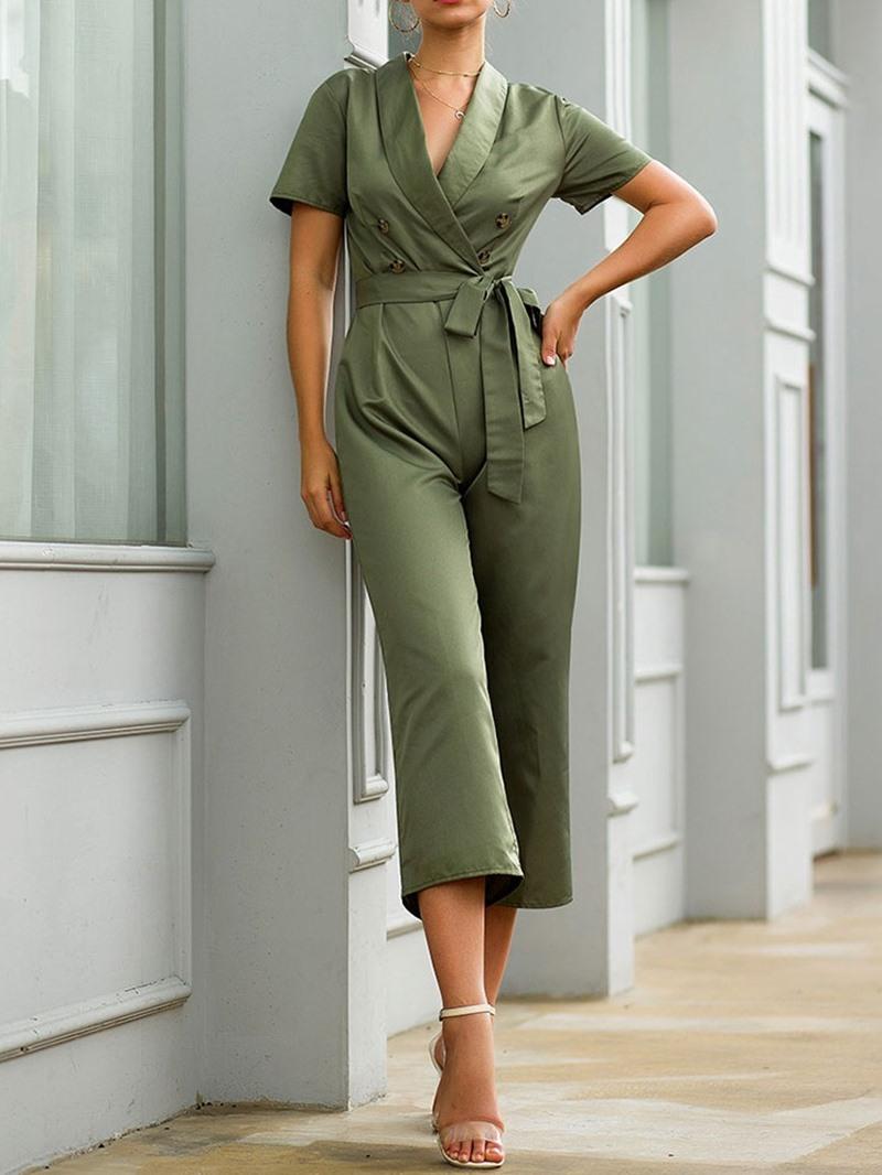 Ericdress Mid-Calf Plain Fashion Straight Loose Jumpsuit