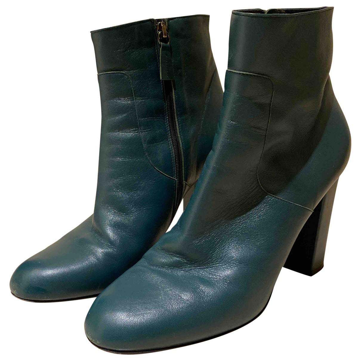 Parosh \N Green Leather Ankle boots for Women 41 EU