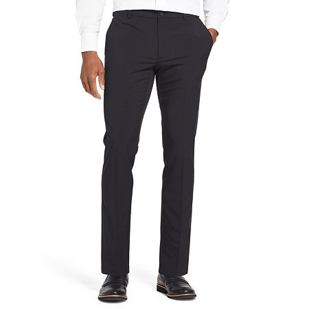 Van Heusen Flex 3 Slim Fit Dress Pant, 30 34, Black