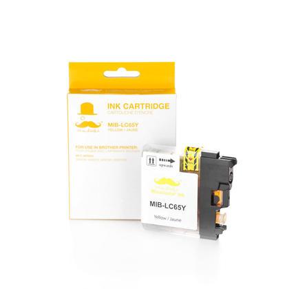 Compatible Brother MFC-5890CN jaune cartouche d'encre de haut rendement - Moustache marque
