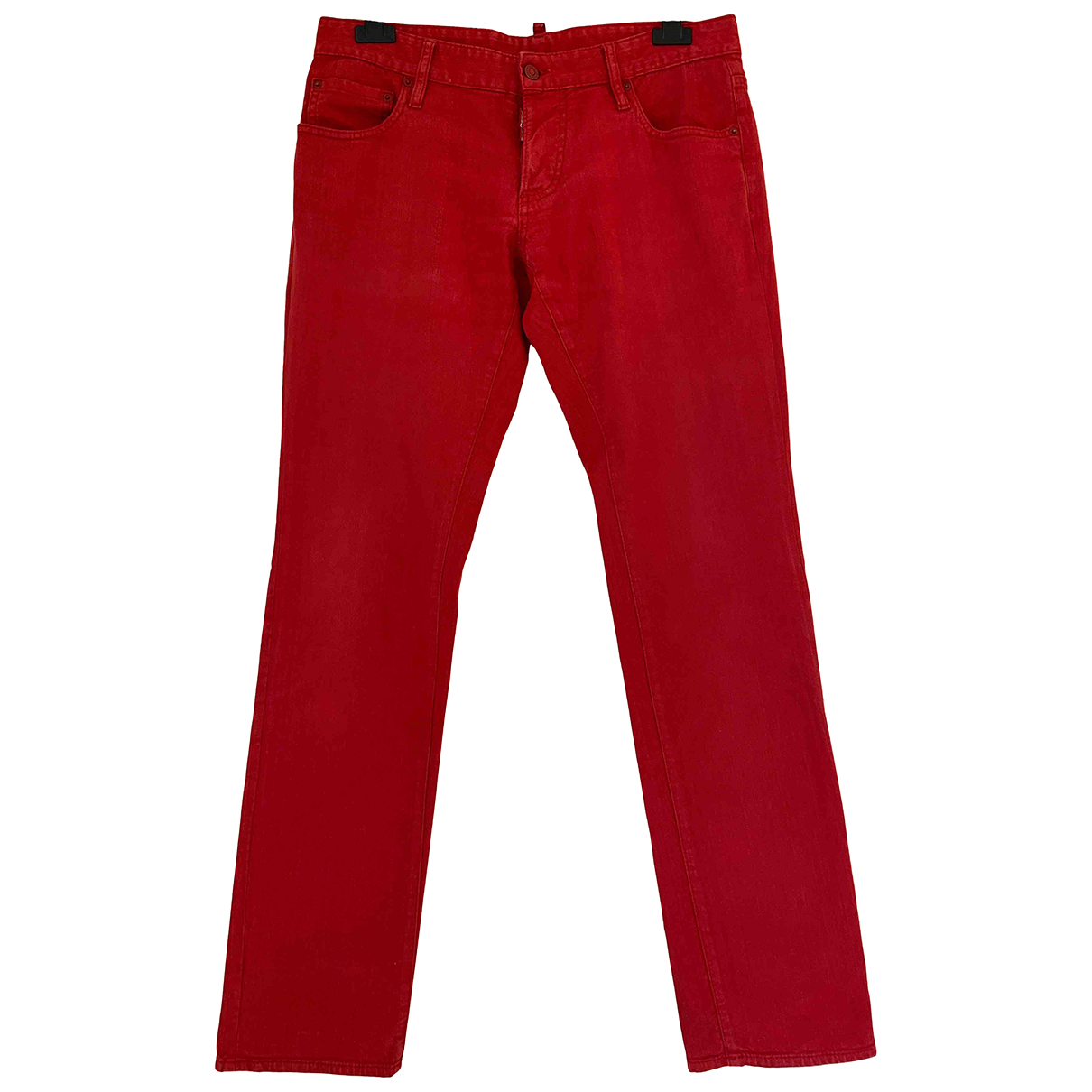 Dsquared2 \N Red Cotton - elasthane Jeans for Men 33 US