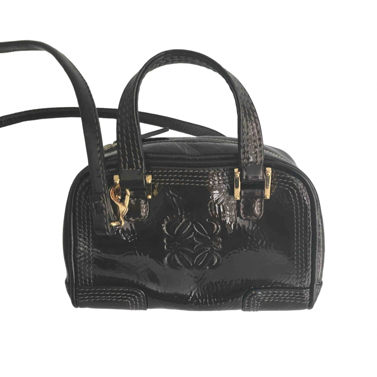 Loewe Amazona Brown Patent leather handbag for Women \N