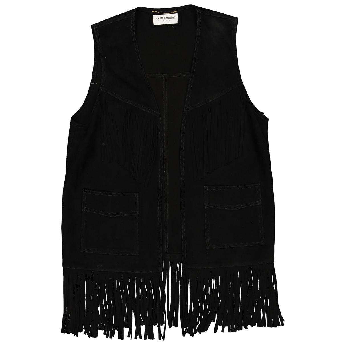 Saint Laurent \N Black Suede jacket for Women 38 FR