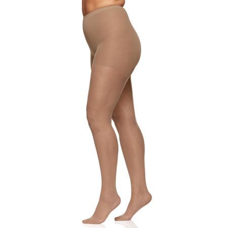 Berkshire Hosiery Silky Sheer Pantyhose Plus, Queen Petite , Beige