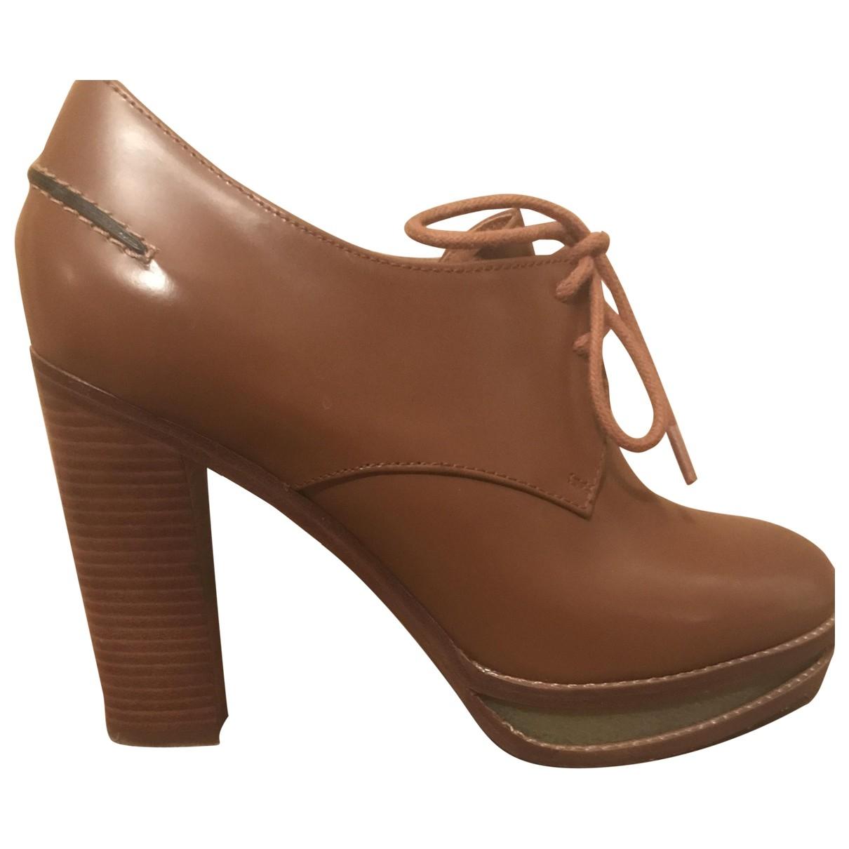 Véronique Branquinho \N Camel Leather Lace ups for Women 37 EU