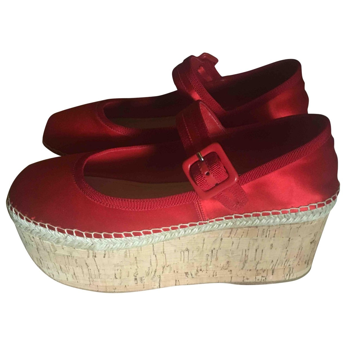 Miu Miu \N Red Cloth Heels for Women 37.5 EU