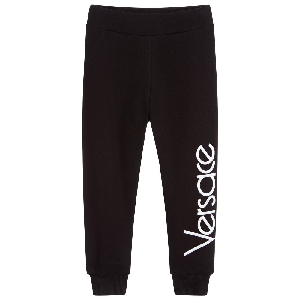 Versace Young Versace Down Logo Joggers Colour: BLACK, Size: 8 YEARS