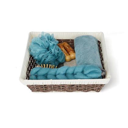 7Pcs/Set Home Bath Body Spa Basket Tools Kit Bathing Tools for Men & Women - Green