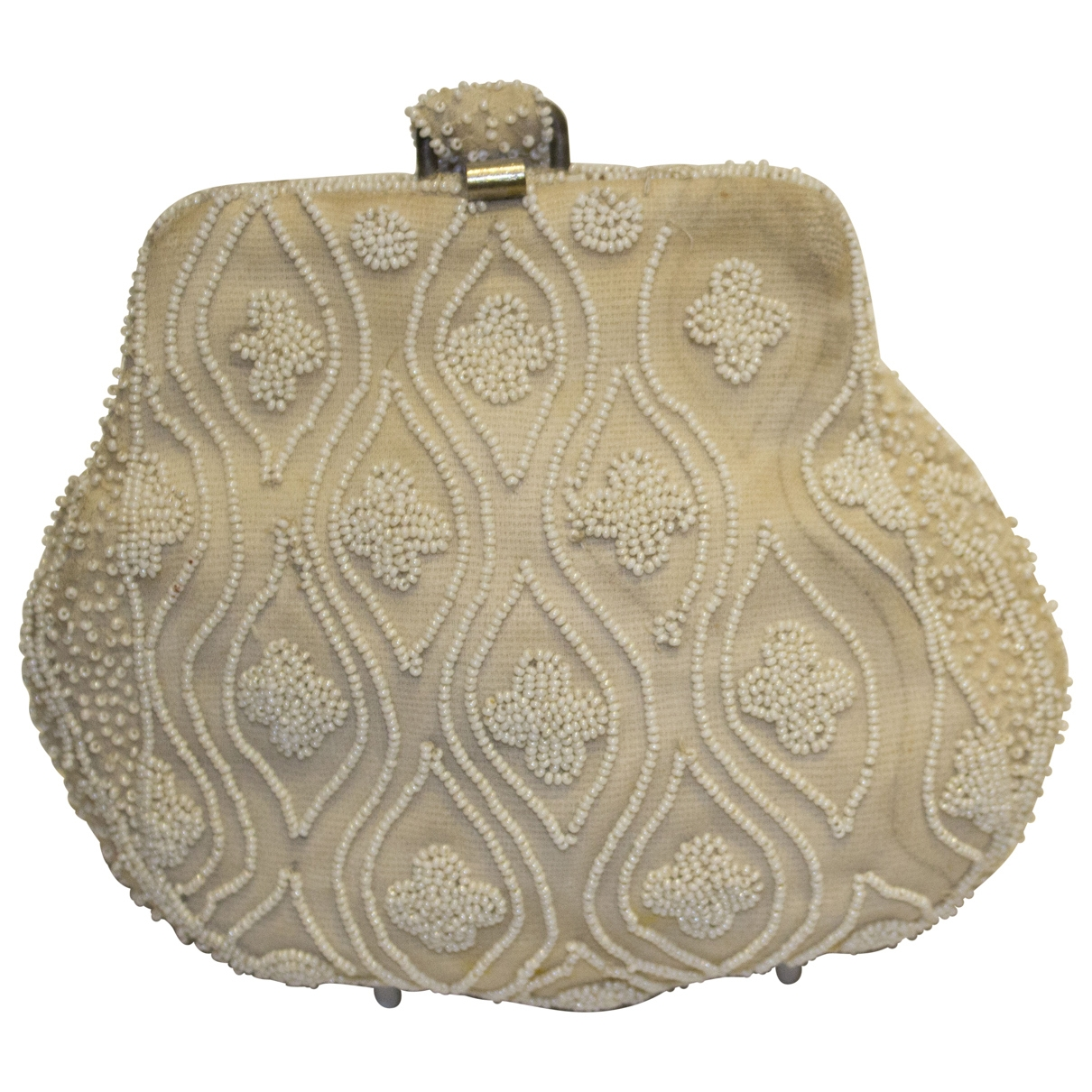 Non Signé / Unsigned \N Beige Glitter Clutch bag for Women \N