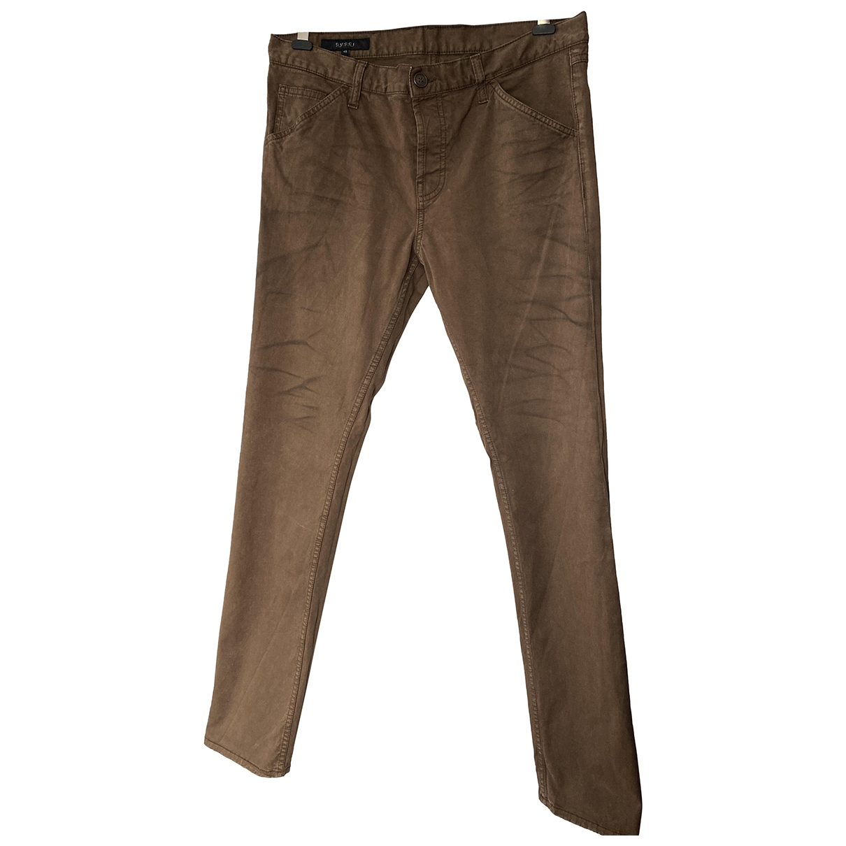 Gucci \N Brown Cotton Jeans for Men 44 FR