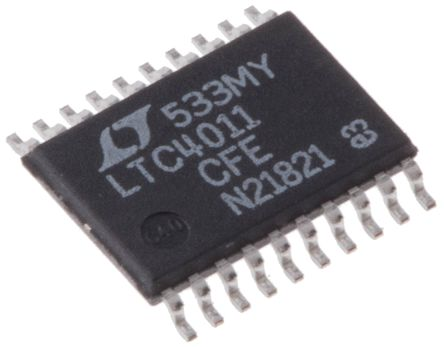 Analog Devices LTC4011CFE#PBF, NiCD, NiMH, Battery Charger, +2mA 20-Pin, TSSOP