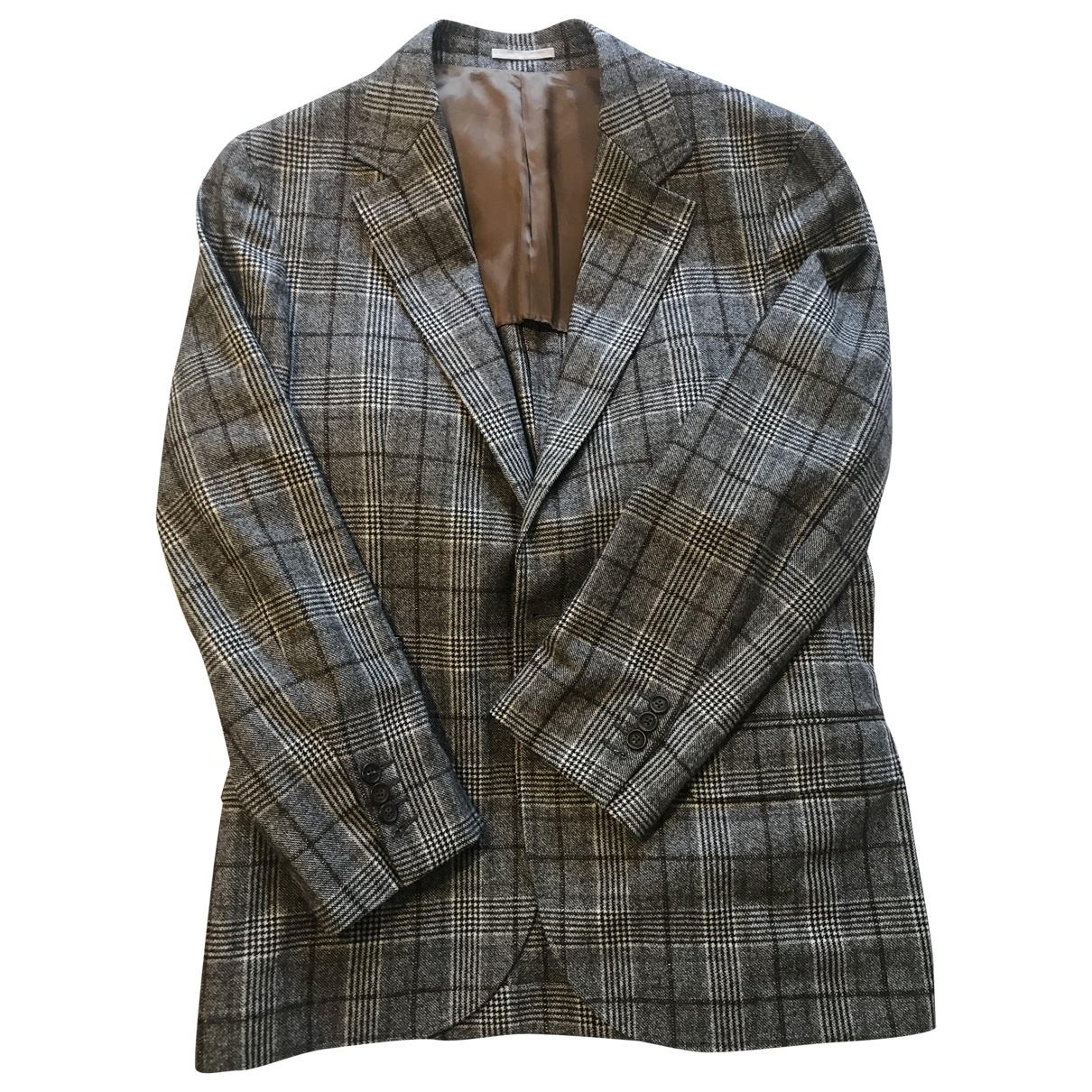 Brunello Cucinelli \N Grey Wool jacket  for Men 50 IT