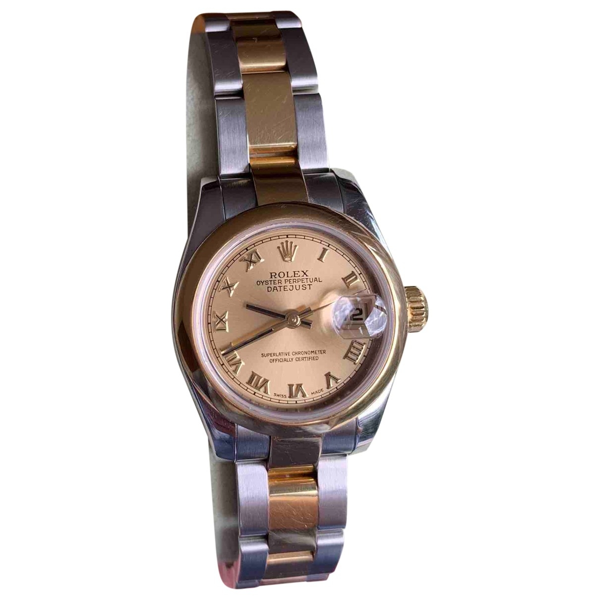 Rolex Lady DateJust 26mm Gold gold and steel watch for Women \N