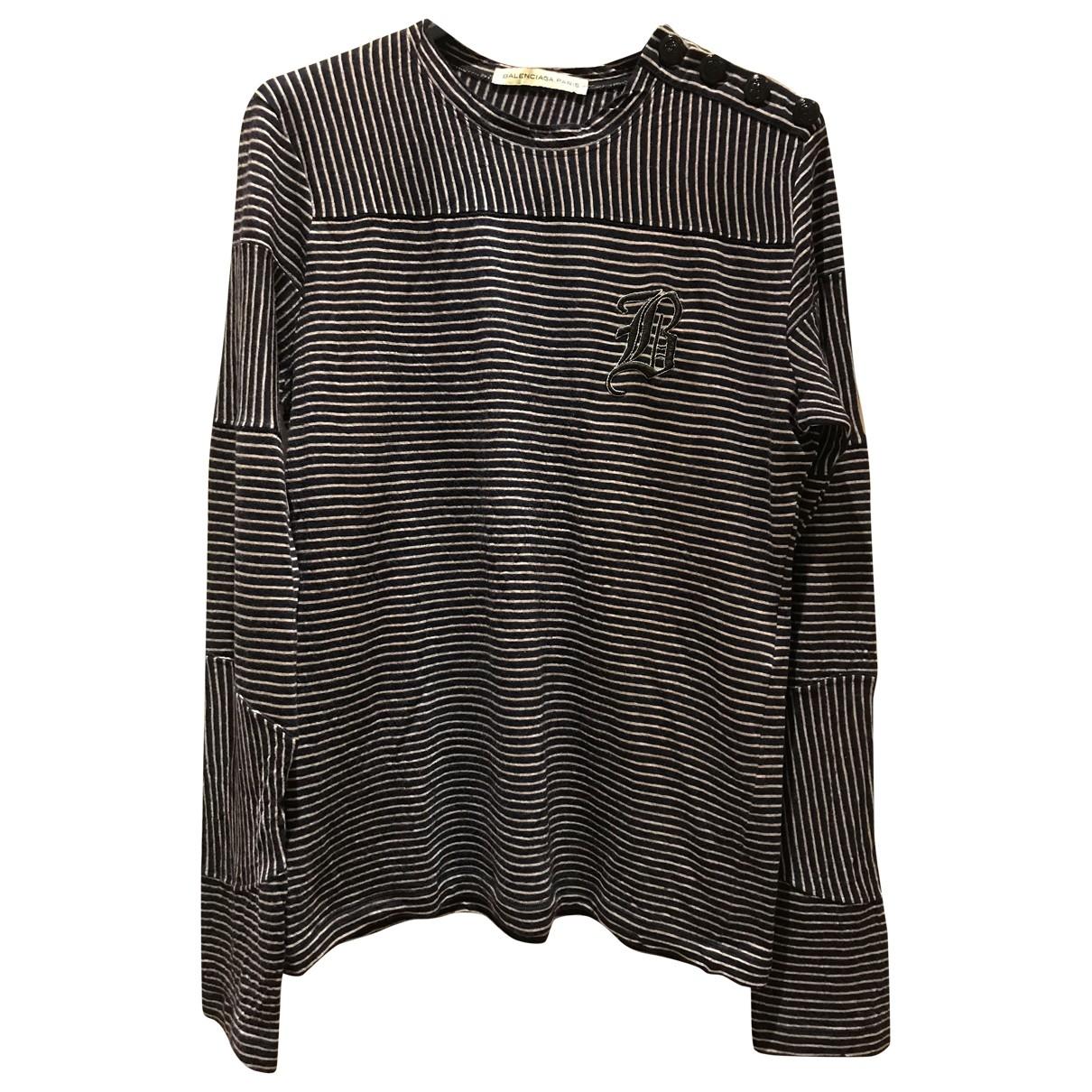 Balenciaga \N Navy Wool Knitwear & Sweatshirts for Men M International