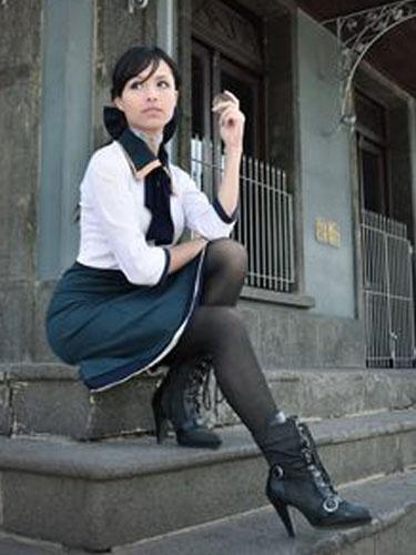 Milanoo BioShock Infinite Elizabeth Halloween Cosplay Costume Green Dress Halloween