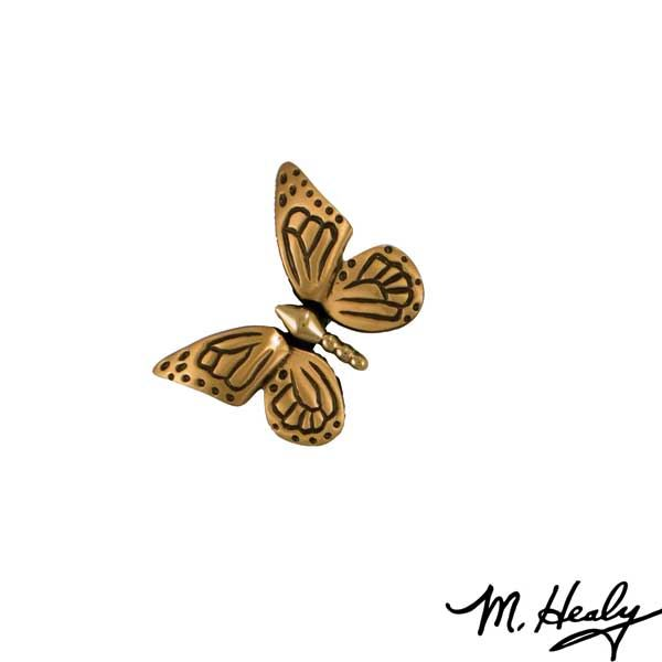 Monarch Butterfly Door Bell Ringer, Polished Brass and Satin Bronze