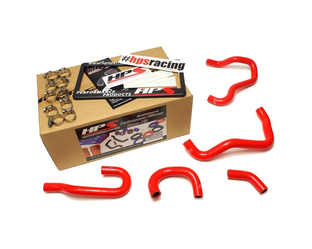 HPS Red Reinforced Silicone Heater Hose Kit for Honda 06-09 S2000