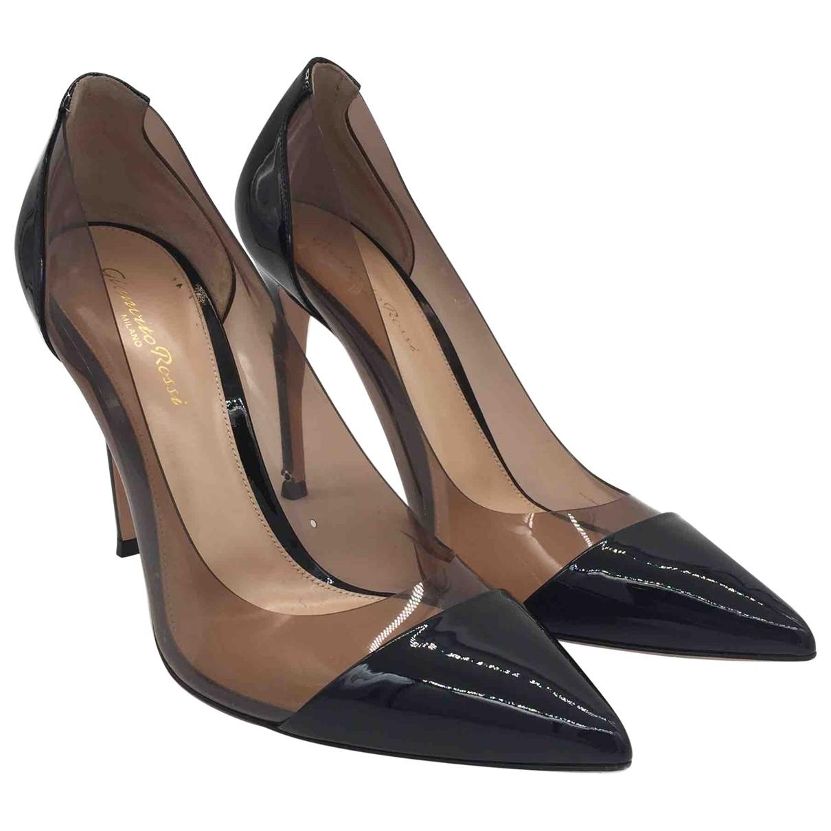 Gianvito Rossi Plexi Black Heels for Women 38.5 EU