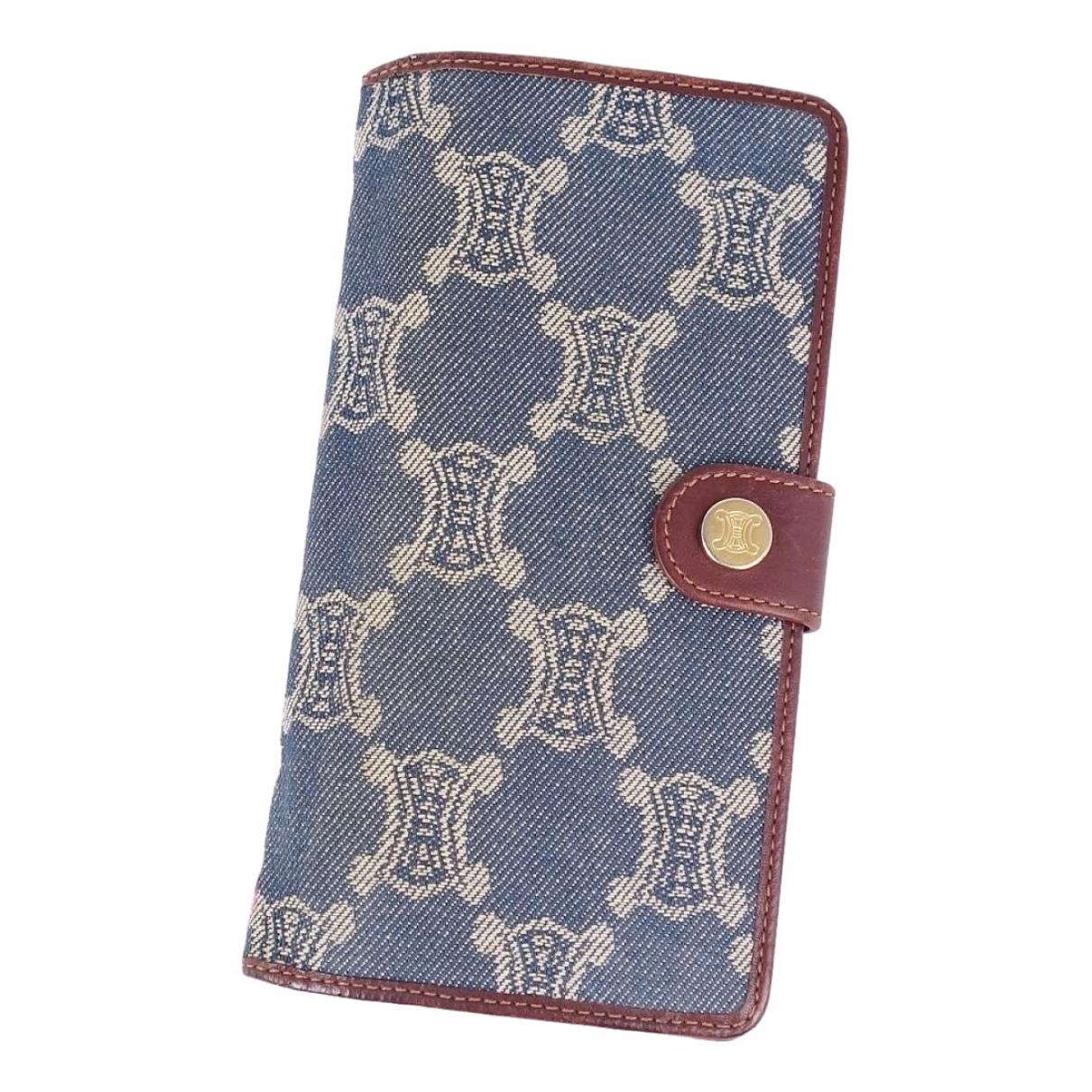 Celine \N Blue Denim - Jeans wallet for Women \N