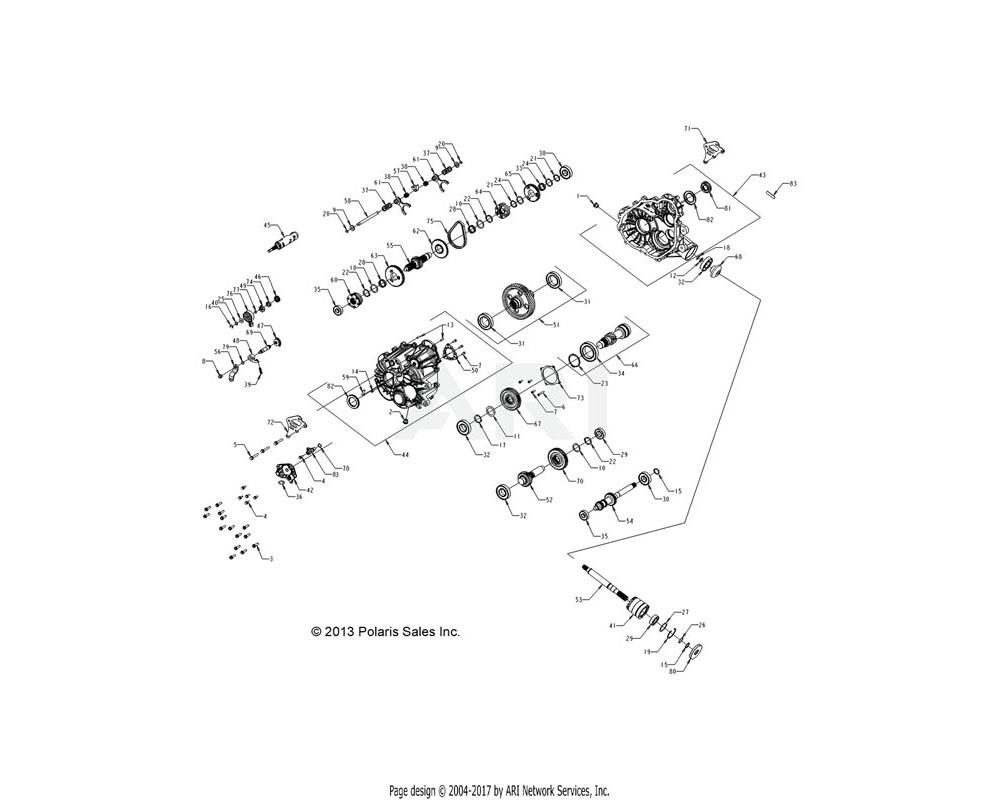 Polaris OEM 1333106 ASM., GEARCASE, COMPLETE