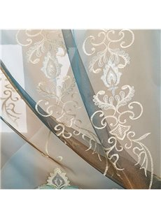 Elegant Chenille Classy Embroidery Living Room and Bedroom Decorative Custom Sheer Curtain