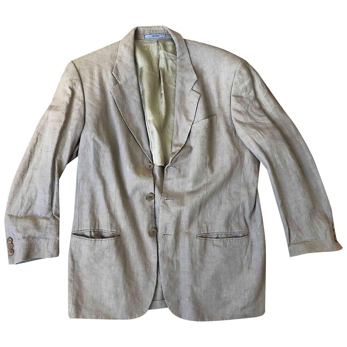 Kenzo \N Beige Linen jacket  for Men 52 FR