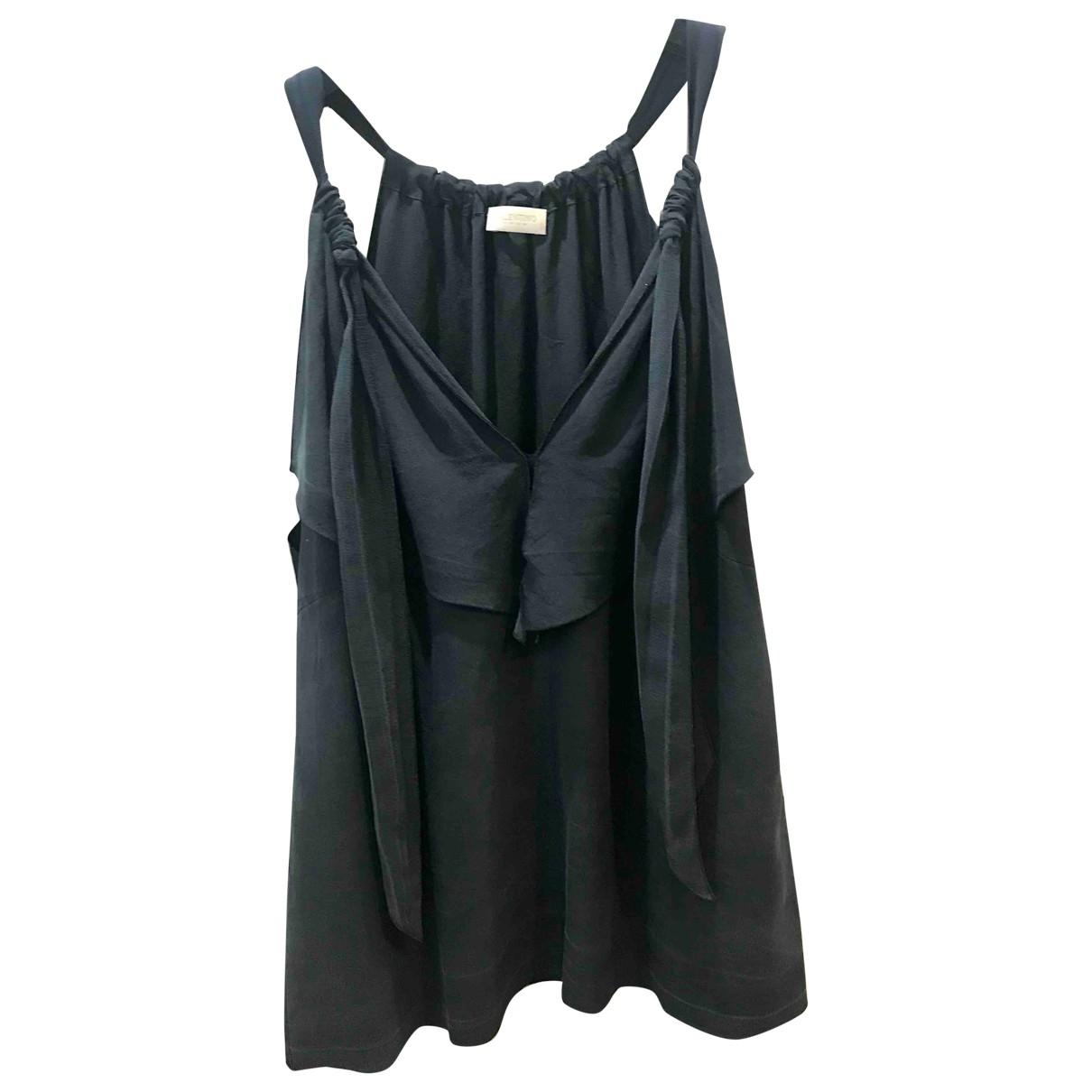 Valentino Garavani \N Navy Silk  top for Women 14 UK
