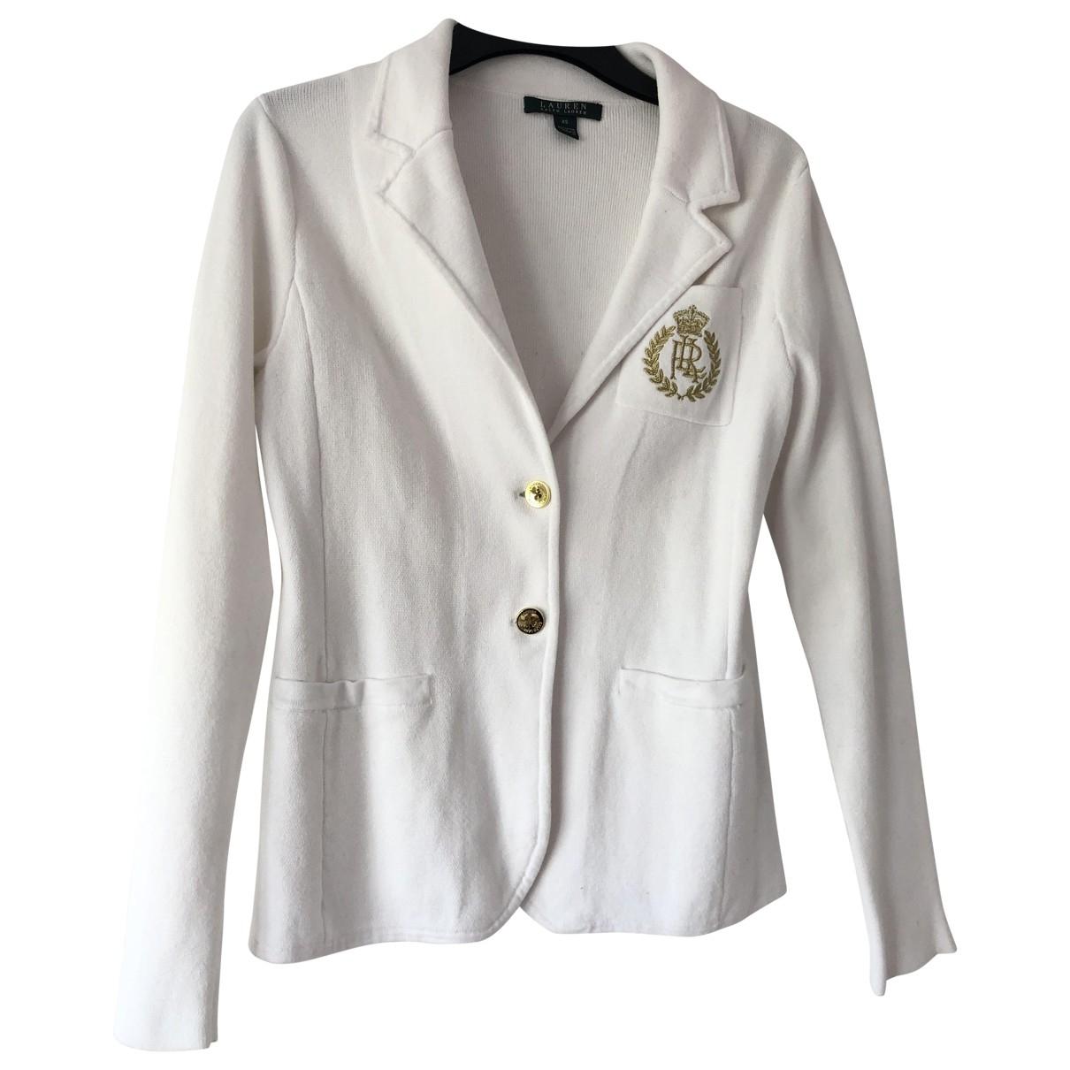 Lauren Ralph Lauren \N Ecru Wool jacket for Women 36 FR