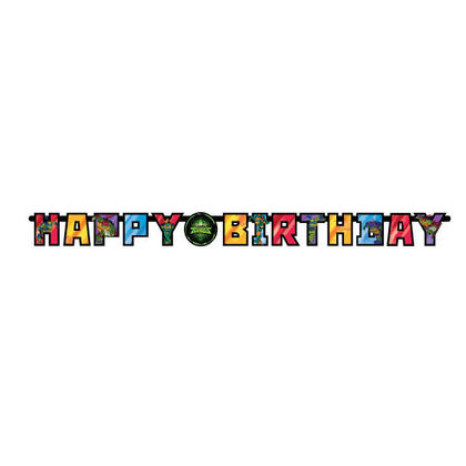 Rise of the TMNT Large Jointed Banner, 1Pc For Birthday Party