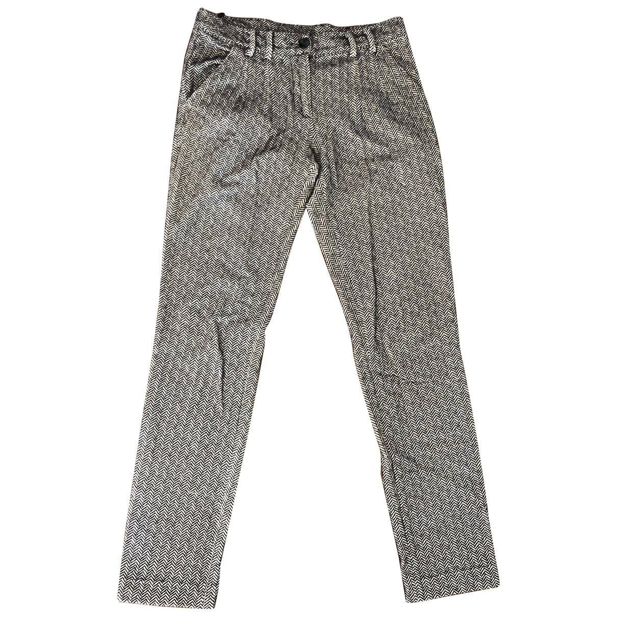 Emporio Armani \N Multicolour Spandex Trousers for Women 38 IT