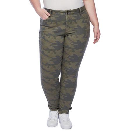 a.n.a Womens 5 Pocket Skinny Jean - Plus, 28w , Green
