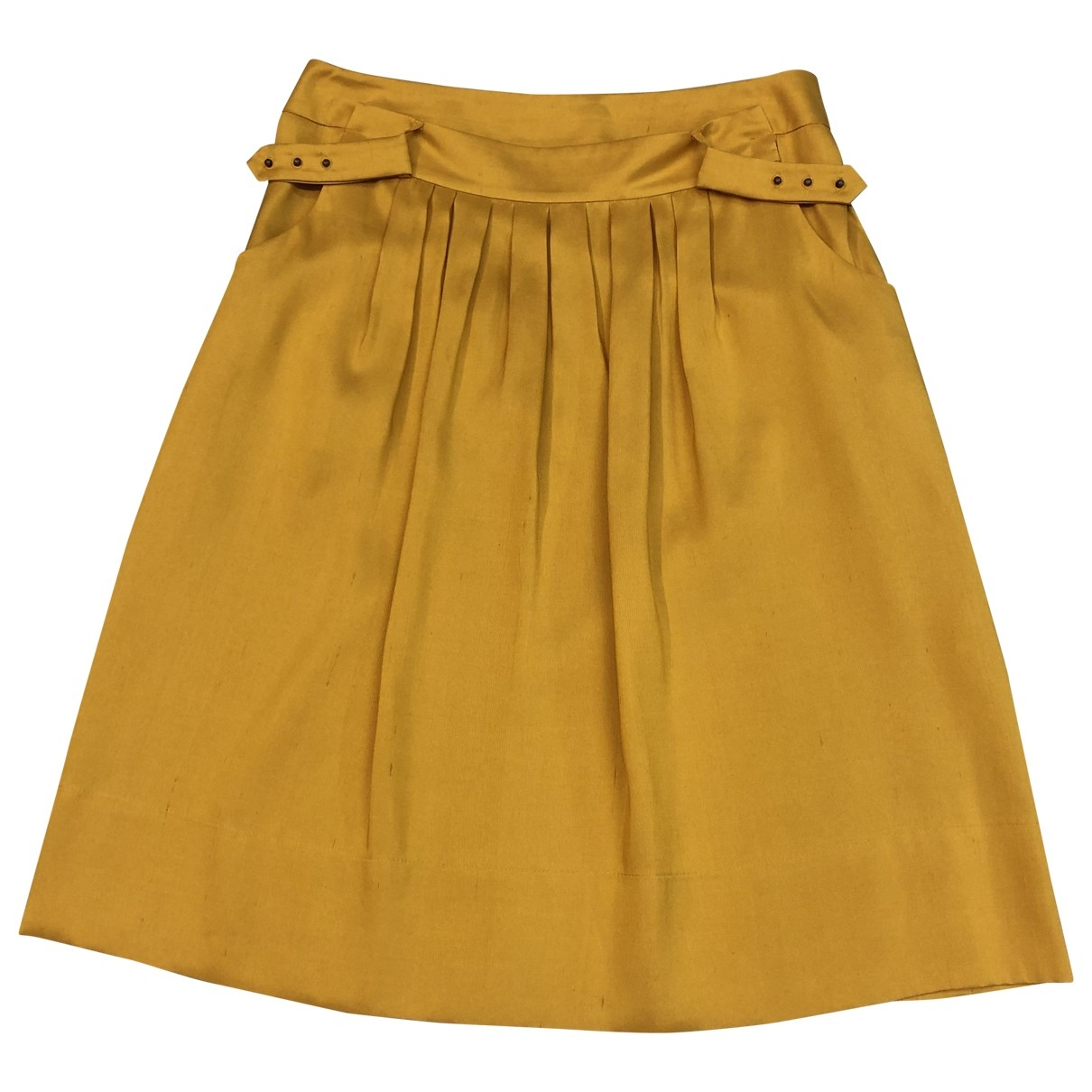 Non Signé / Unsigned \N Yellow Silk skirt for Women 38 FR